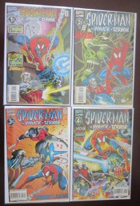 Spider-man Power Terror Comics Set # 1 - 4 - 8.0 VF - 1995