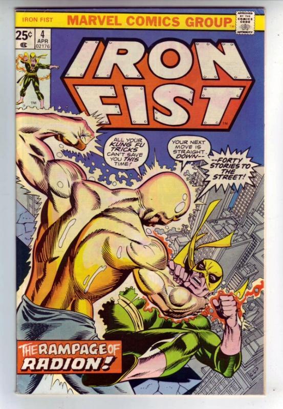 Iron Fist #4 (Apr-76) VF High-Grade Iron Fist