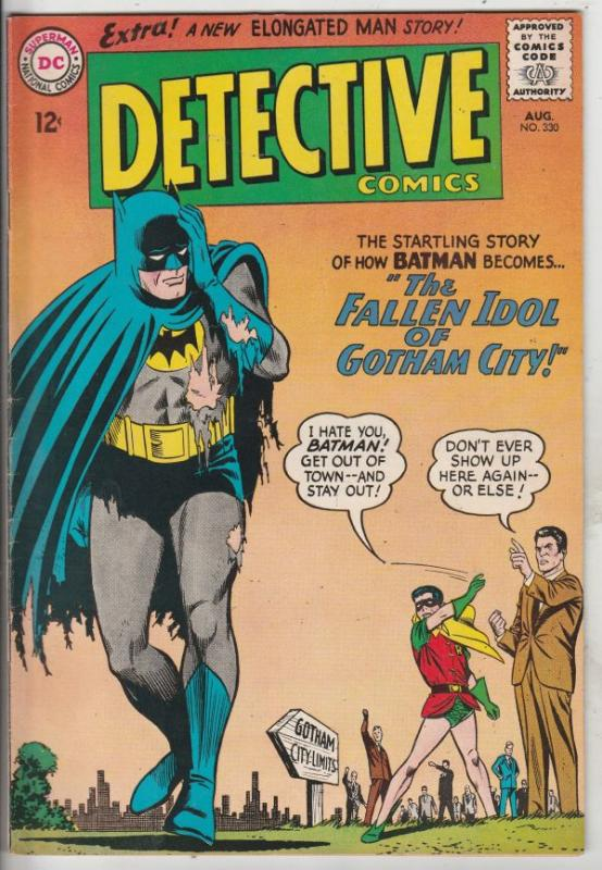 Detective Comics #330 (Aug-64) FN/VF+ High-Grade Batman, Robin