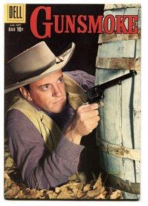 Gunsmoke #16 comic book 1959-Photo cover - James Arness Western Dell VF