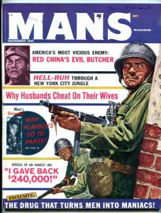 Man's Magazine December 1961-Mao Tse-tung- Basil Gogos art