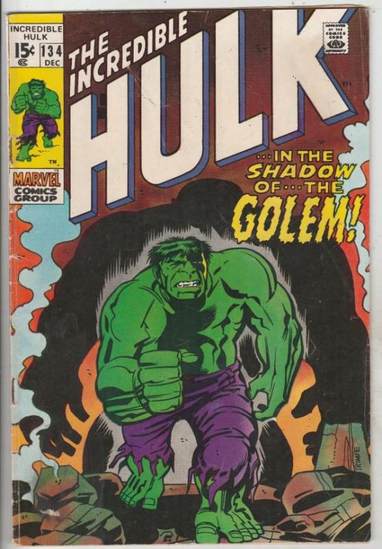 Incredible Hulk #134 (Dec-70) FN/VF+ High-Grade Hulk