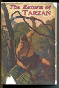 Return of Tarzan 1927-ERB-hardback with dust jacket-NC Wyeth-St John-VG