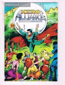 Hero Alliance #10 VF Innovation Comic Book 1989 DE13