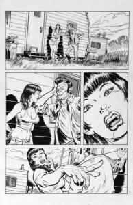 DEAN KOTZ Original Published Art, TRAILER PARK of TERROR #9 page 1, Zombies