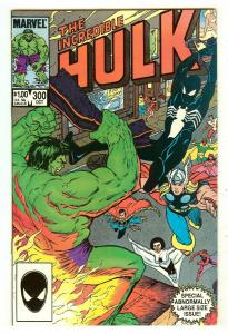 Incredible Hulk 300   Spiderman in new black costume on cover