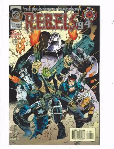 Lot of 6 REBELS '94 DC Comic Books #0 1 2 3 4 10 BH46