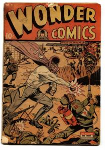 Wonder Comics #5 1945-Wild Grim Reaper-Flame Thrower-Prison Camp cvr WWII