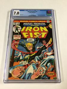 Marvel Premiere 15 Cgc 7.0 1st Iron Fist Bronze Age Ow/w Pages