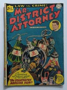 Mr. District Attorney #5 (Oct 1948, DC) Good 2.0