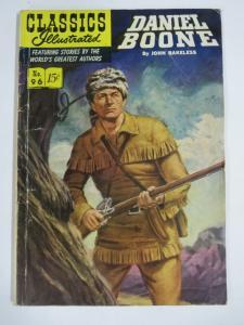CLASSIC ILLUSTRATED #96 (G) DANIEL BOONE (1ST Edition, HRO=97) June 1952