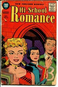Hi-School Romance #55 1956-Harvey-Bob Powell-Jack Kirby influence-G-