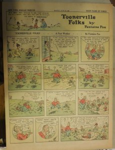 Toonerville Folks by Fontaine Fox from 6/26/1927 Full Size Color Page !
