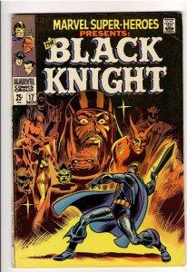 MARVEL SUPER HEROES 17 F/VF 7.0 KILLER COPY!! MAJOR KEY!!ORIGIN BLACK KNIGHT