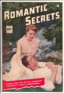 Romantic Secrets #39 1953-spicy art-photo cover-final Fawcett issue-VF