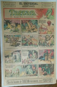 Tarzan Sunday Page #586 Burne Hogarth from 5/31/1942 in Spanish ! Full Page Size