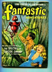 FANTASTIC ADVENTURES PULP JULY 1952-WALTER POPP-FN