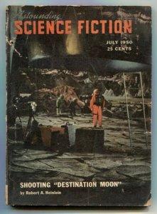 Astounding Science-Fiction Pulp July 1950- Destination Moon