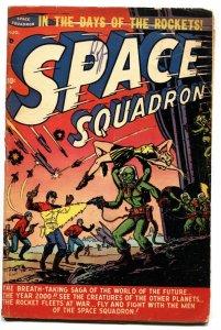 SPACE SQUADRON #2-1951-ALIEN ATTACK COVER-JET DIXON ATLAS