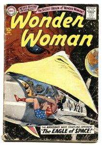 WONDER WOMAN #105 1959 Origin of WW DC Silver Age Comic Book
