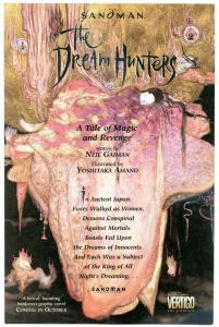 SANDMAN - The DREAM HUNTERS Preview, Flyer, Promo, NM, 1999, Neil Gaiman, Amano