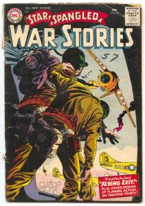 Star Spangled War Stories #54 1957 DC PARACHUTE COVER G/VG