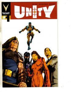 Unity # 1 NM 1st Print Variant Cover Valiant Comic Book Magnus Solar MK3