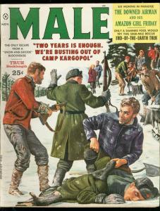 MALE MAGAZINE NOV 1959-KUNSTLER-SUICIDE-CHEESECAKE-POW VG/FN