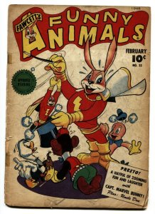 Fawcett's Funny Animals #35 1946--Hoppy The Marvel Bunny--G