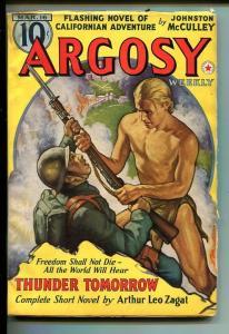 ARGOSY 04/16/1940-RED STAR-ARTHUR LEO ZAGAT-ORIENTAL MENACE-good