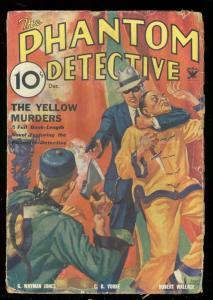 PHANTOM DETECTIVE DEC 1933-YELLOW MURDERS ASAIN MENACE VG