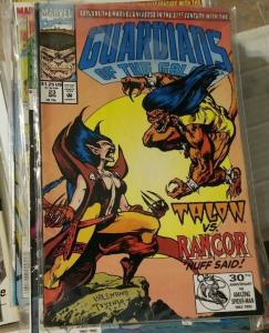 Guardians of the Galaxy # 23 1991 marvel TALON VS RANCOR+ GOTG  31ST CENTURY
