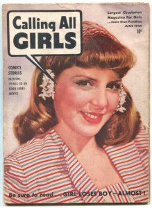 Calling All Girls #30 1944- Judy Wings- Little Mary Small VG