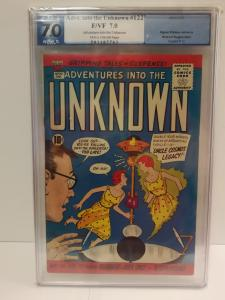 Adventures into the Unknown, #122, Feb 1961, PGX graded 7.0