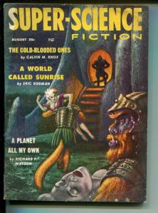 Super-Science Fiction 8/1958-Headline Pubs-pulp thrills-Kelly Freas-VG