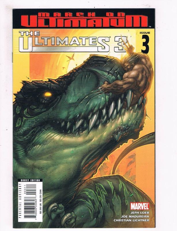 The Ultimates 3 # 3 NM 1st Print Marvel Comic Book Iron Man Hulk Thor Vision S58