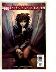 Runaways # 1 NM Marvel Comic Book 1st Appearance Brian K. Vaughan Alphona SM8