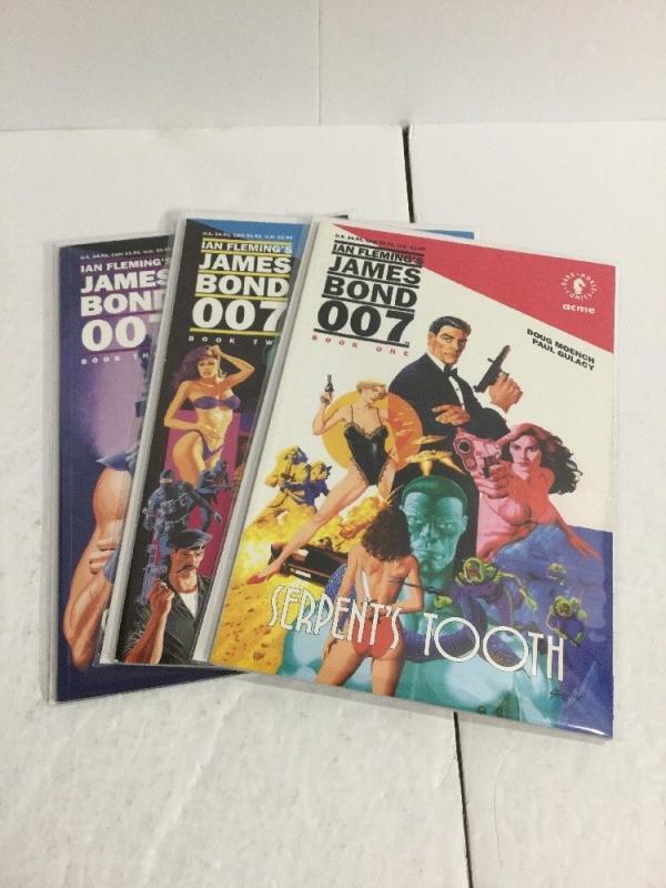 James Bond 007 Serpent's Tooth 1-3 Lot Set Run Nm Near Mint Dark Horse IK