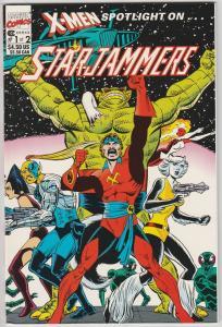 2 X-Men Spotlight on Starjammers Marvel Comic Books # 1 2 Kavanagh Cockrum LH26