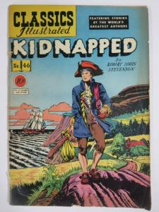 CLASSIC ILLUSTRATED #46 (G-) KIDNAPPED (1ST Edition, HRO=47) April 1948
