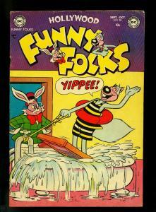 Hollywood Funny Folks #55 1953- Nutsy Squirrel- DC Funny Animal- VG+