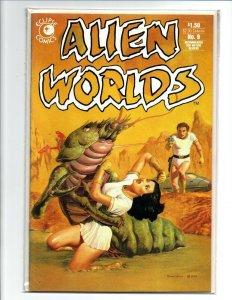 Alien Worlds #9 - sexy sci-fi girl - PC - 1983 - Very Fine/Near Mint