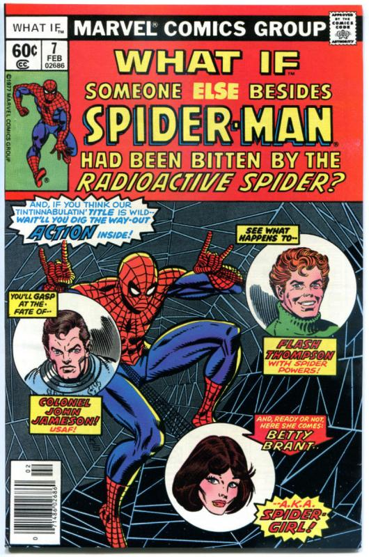WHAT IF #7, VF/NM, Spider-man was someone else, Radioactive Spider bite, Marvel
