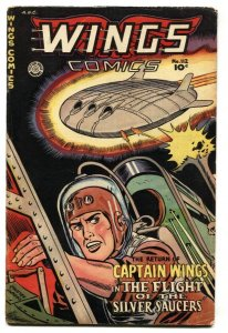 WINGS #112 FICTION HOUSE-UFO-CAPT WINGS-GHOST SQUADRON-FLYING SAUCER