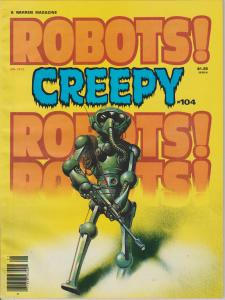 CREEPY #104,ROBOTS!,ORIGINAL WARREN MAGAZINE, BAGGED-BOARDED - STAR WARS ADS