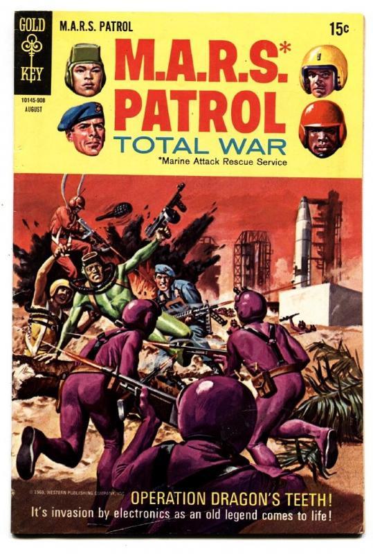 m a r s patrol total war 10 battle cover 1969 gold key fn vf