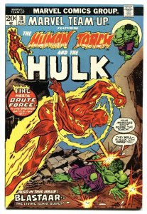 Marvel Team-Up #18 1974-HUMAN TORCH - HULK  comic book VF