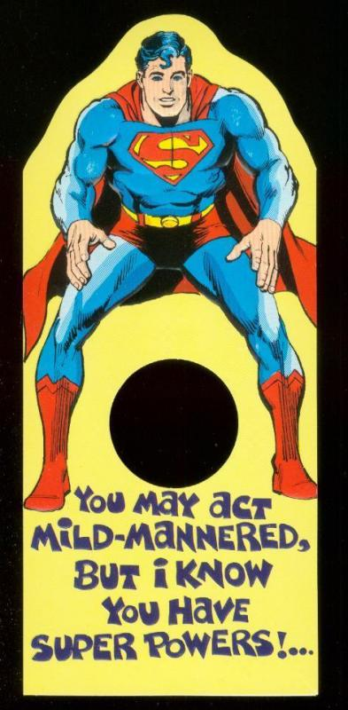 NEAL ADAMS SUPERMAN BIRTHDAY CARD 1978 NM