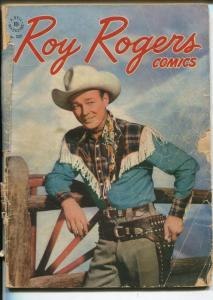 Four Color Comics #137-1947-Dell-Roy Rogers-photo cover-FR