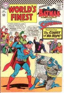 WORLDS FINEST 163 VG-F   December 1966 COMICS BOOK